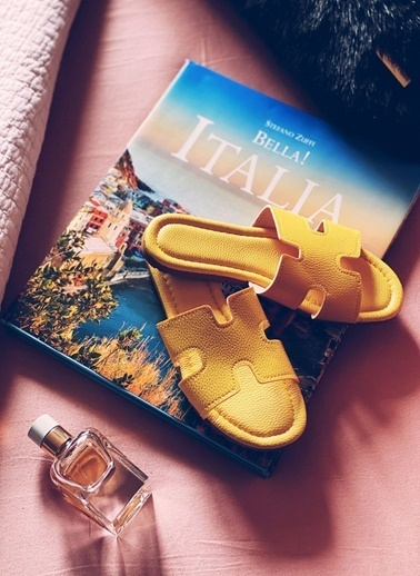 Arma Shoes Kadın Home&Away Terlik Sarı
